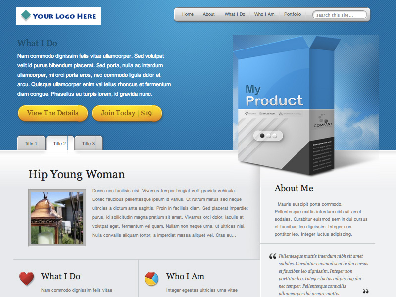 Bald Guy Studio template images product